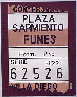 Sarmiento, Funes Square by Nelly Arias