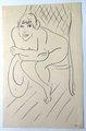 Nu au  rocking chair by Henri Matisse