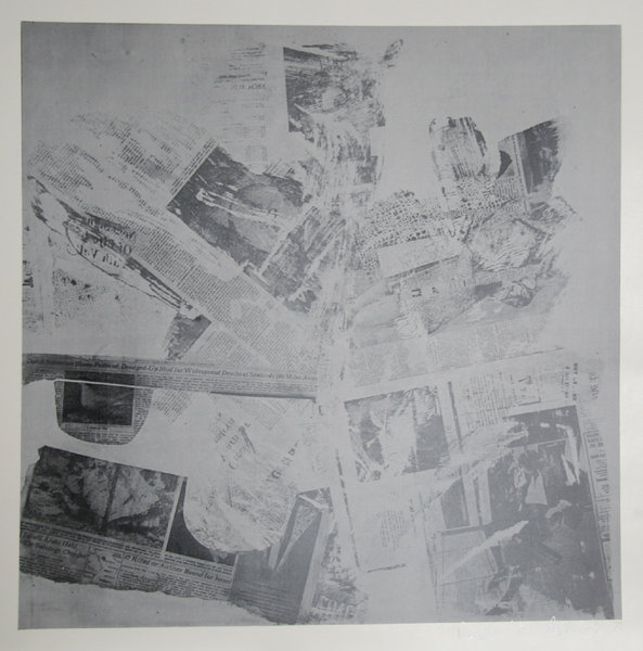 Features from Currents, #60 by Robert Rauschenberg