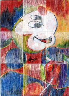 Mickey Mouse,4 rain rectangles by Marco Mark