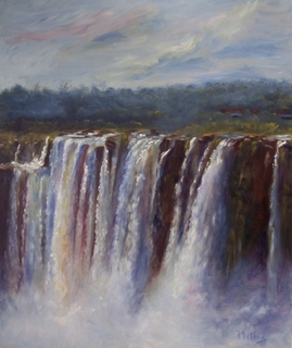 waterfall Iguazú 3 by Rosario de Mattos