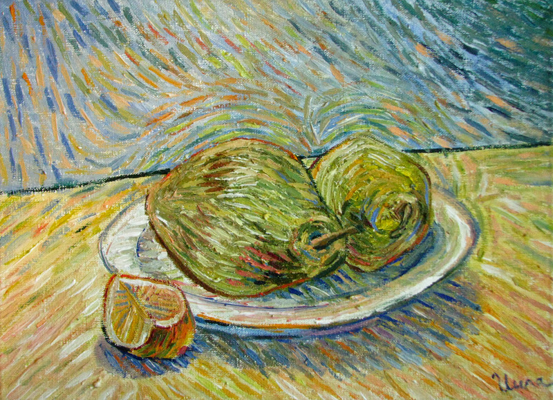 Two pears by Inga Erina