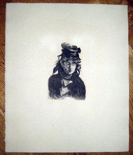 Portrait of Berthe Morrisot by Eduard Manet
