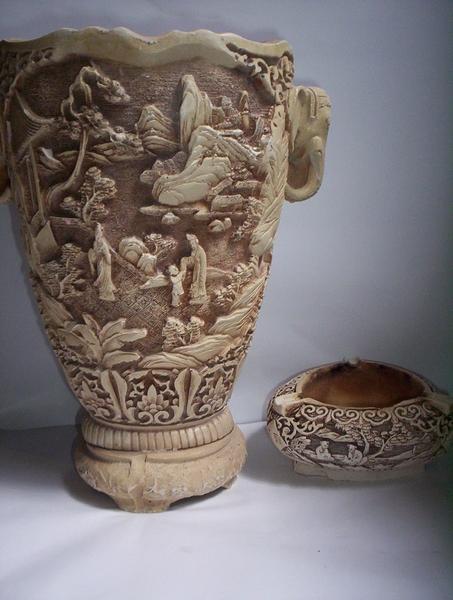Ivory Vases Original Art By Huai Qing Wang Picassomio