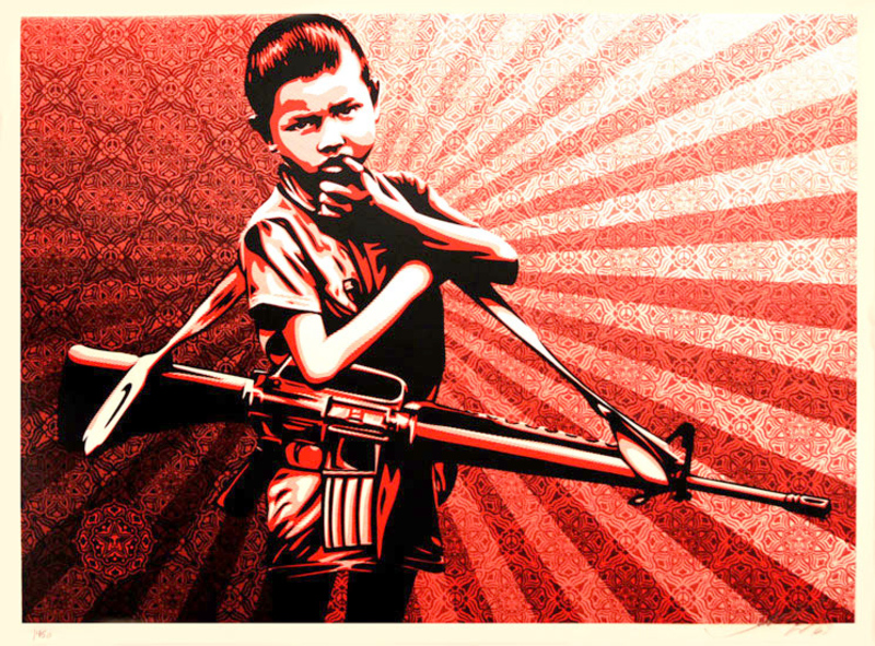 Duality Of Humanity V Original Art By Shepard Fairey
