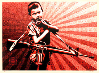 Duality of Humanity V by Shepard Fairey