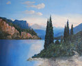 Dawn on Lake Garda. Italy by Thomas Leslie Conroy