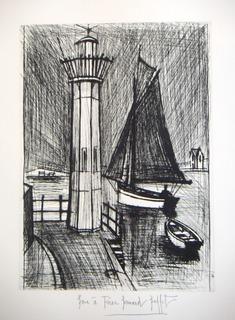 Lighthouse and Fishing Boat by Bernard Buffet