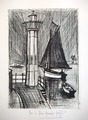 Lighthouse and Fishing Boat by Bernard Buffet