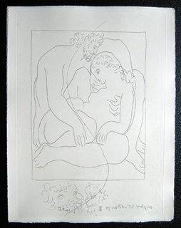 Amours de Jupiter et de Semele (Troisieme planche) by Pablo Picasso