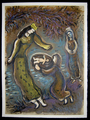 Then the daughter of Pharaoh opened the basket and saw that within it was a child by Marc Chagall