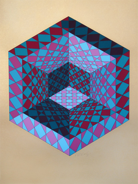 Sancton Original Art By Victor Vasarely Picassomio
