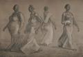 Mujeres Caminando II by Francisco Zuñiga