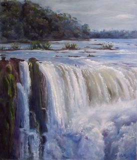 waterfall  Iguazú by Rosario de Mattos