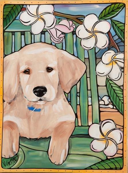Happy puppy by Veronique Godbout