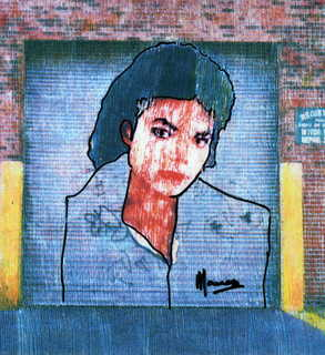 Michael Jackson street art by Marco Mark