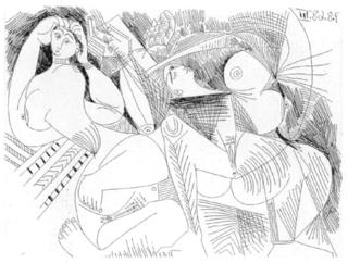 La Sieste : Deux Femmes by Pablo Picasso