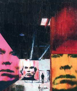 Andy Warhol in the Factory by Marco Mark