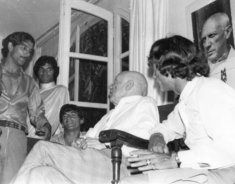 Portrait Of Pablo Picasso And The Gypsies With Manitas De