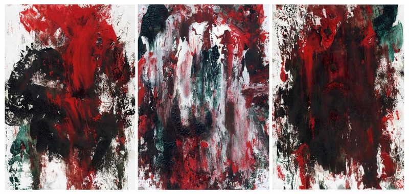 Triptych OF-25 by Oleg Frolov