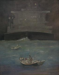 Fear At The Sea by Adolfo Estrada Estrada