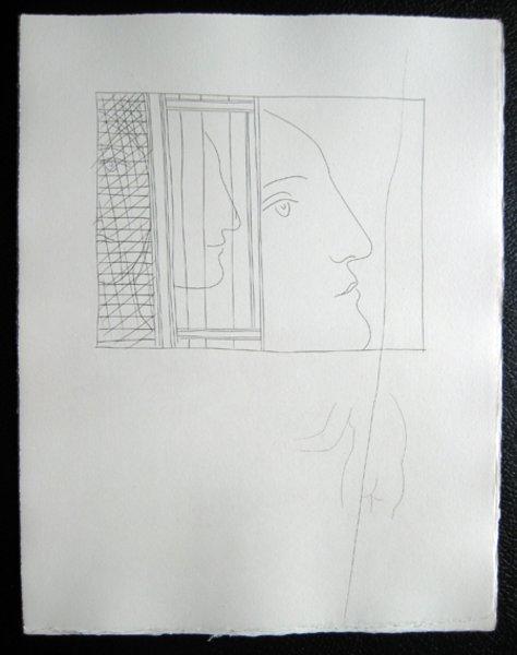 Trois fragments de tetes by Pablo Picasso