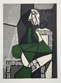 Portrait de Femme Assise, Robe Verte by Picasso Estate Collection