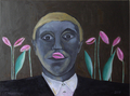 Man with tulips by Ricardo Hirschfeldt