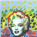 POP Marilyn grafitti glow by Marco Mark