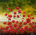 Poppies in the Wind III by Isabelle Dupuy