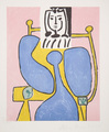 Femme Assise à la Robe Bleue by Picasso Estate Collection