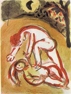 Cain and Abel by Marc Chagall