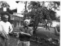 Portrait of Pablo Picasso and Marcel in July 1950. by Pablo Picasso