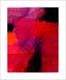 Abstract in red by Asher Kalderon