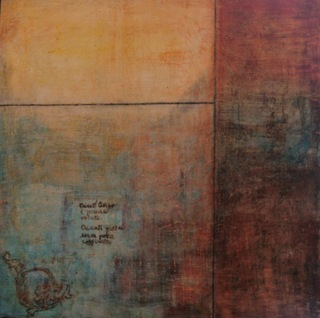 Tuscan Wall I - encaustic (wax) with oil by Nella Lush