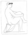Femme nue couronnee de Fleurs, aux  jambes croisees by Pablo Picasso