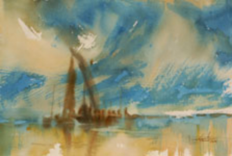 Blue Sunset by U Lun Gywe