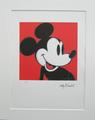 Andy Warhol lithograph Mickey Mouse signed numbered by Andy Warhol