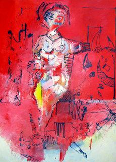 Woman at Bull Masquerade by Eric Henty