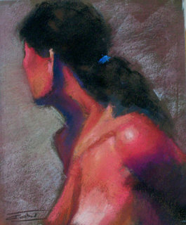 Girl in reds by Antonio Abad