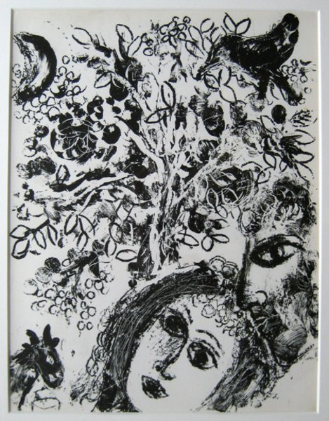 Couple Devant L Arbre Original Art By Marc Chagall