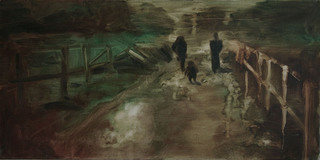 Three Figures on a Path by Richard Ross