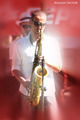 saxophonist by Atman Victor