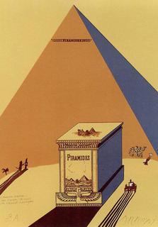 Winston Churchill, Napoleone e Saul Steinberg all'ombra delee piramidi a mezzogiorno by Eduardo Arroyo