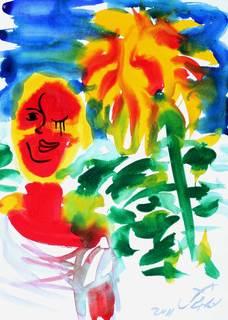 SUNFLOWER GIRL 1 by Jorge Berlato
