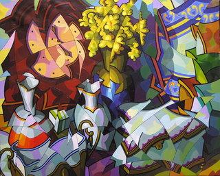 Composicion con reloj. by José Sanz Sala