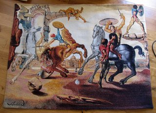Battle around a Dandelion by Salvador Dalí