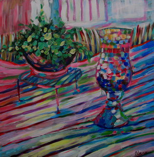 Still life with old lamp by Inga Erina
