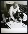 Picasso drawing with Claude and Paloma by Pablo Picasso