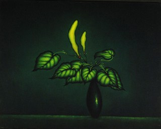Still Life with Yellow Pods by Carolyn Adams